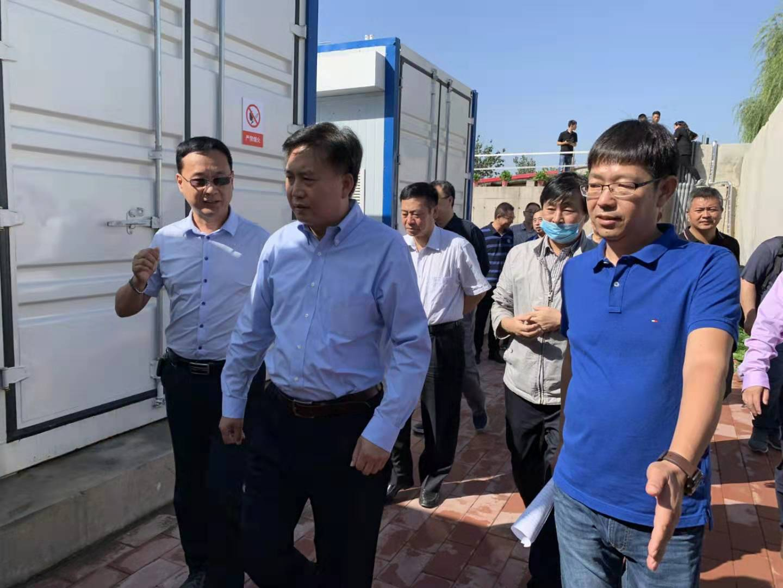 河北省生态环境厅厅长高建民组织参观考察力诚环保污水分散源治理项目运行情况